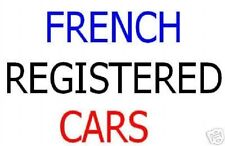 FRENCH REGISTERED LHD LEFT HAND DRIVE CARS www.gary-automobiles.com