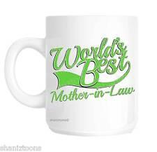 Mother In Law World's Best Green Novelty Gift Mug shan849