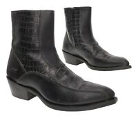LAREDO Ankle BEATLE Boots 9.5 D Mens Side Zip Leather Motorcycle Cowboy Boots