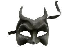Maschera Di Venezia Diavolo Nero Autentica Carta Mache Veneziano 210