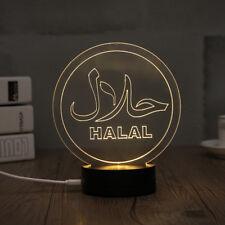 3D LED Night Light Desk Table Lamp Christmas Decoration Muslim Style (MSL-C)