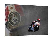 Marco Simoncelli 30x20 Inch Canvas - MotoGP Framed Picture Honda