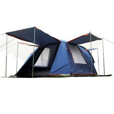 NEW 3-4 Persons Family Camping Fold Tent Double Hiking Beach Two Rooms Vestibule