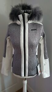 NEVICA Anna Ladies Ski Jacket in White/Silver - size 12 (M)