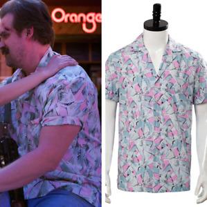 Jim Hopper Cosplay Costume Short Sleeve Hawaiian Shirt