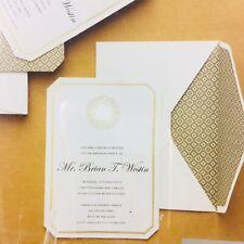Martha Celebrations Printable Invitations Menu Cards Wedding 12 Pack