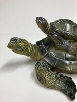 "GREEN SEA TURTLE WITH HATCHLING 7"" Statue MARINE ANIMAL TURTLES OCEAN"