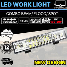 48 LED Work Light Bar  Spot Flood Beam Lamp Reverse Offroad 4x4 4WD 10-32V