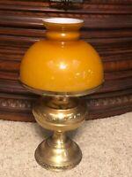 Vintage Rayo Victorian All Metal Brass Kerosene Lamp - Shade Bracket