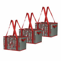 Reusable Grocery Bags  Shopping Box  Heavy Duty Collapsible(Set of 3)