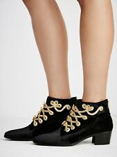 New Free People Modern Vince Battalion Ankle Boots Size 37 EURO $498