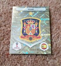 Panini FIFA World Cup 2018 Sticker #132 SPAIN shiny foil badge emblem