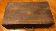 Vintage Stanley Tools Wood Chest Box #904 Display W/ Tools #102 Irwin Bits Work