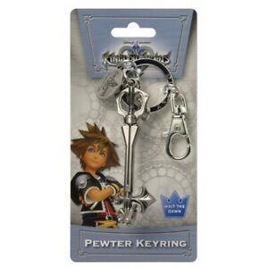 Kingdom Hearts Sleeping Lion Keyblade Pewter Key Ring Keychain Official Licensed