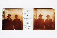 Uomini Cappello Lausanne Suisse Foto Placca P45L4n4 Lente Positivo Stereo 1922