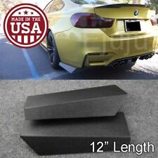 "12"" Rear Bumper Lip Downforce Apron Splitter Diffuser Valence For Honda  Acura"