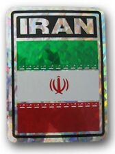 Wholesale Lot 12 Iran Country Flag Reflective Decal Bumper Sticker