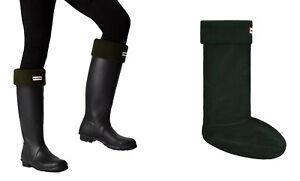 New Ladies Hunter Boots Fleece Welly Socks Olive Green Size Medium Fits 3 4 5