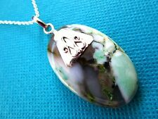 Silver Plated Pendant With Natural Large Dendrite Opal  (nk1575)