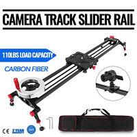 "31.5"" DSLR Camera Track Rail Slider Video Stabilizer Flywheel 80cm Stabilization"