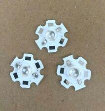 3pcs 5w High Power Led Uv Ultraviolet Light 365 370nm Bead Chip 20mm Pcb