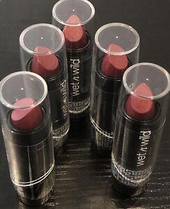 5 Wet n Wild Silk Finish Lipstick, Dark Wine 536A, New Sealed