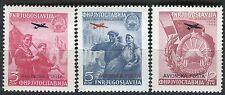 575 - Yugoslavia 1949 - Liberation of Macedonia - Avio - MNH(**) Set