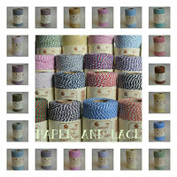 100m FULL SPOOL Beautiful BAKERS TWINE Christmas Divine Colours Everlasto UK