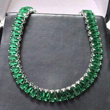 Gorgeous Emerald Bracelet Women Jewelry Wedding Engagement Gift Free Shipping