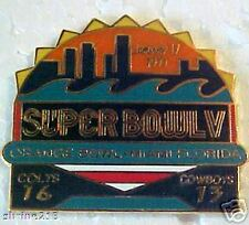 Super Bowl 5 V Final Score Pin Dallas Cowboys vs Baltimore Colts PSG2