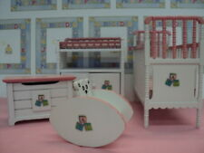 DOLLHOUSE NURSERY SET/ ABC / PINK/4-PC.