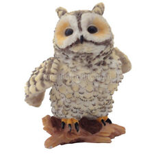"New 2.5"" Cute Mini Eagle Owl Perched on Log Home Decor Collectible Figurine 1991"