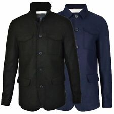Mens Designer Autumn Winter Coat Formal Smart Thick Wool Blend 3/4 length Jacket