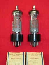 Matched pair e236l Valvo NOS NUOVO TUBO Red tube NEW Valve Valvula Valvola Paio