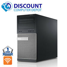 Dell Desktop Computer Tower Quad Core i7 16GB 512GB SSD HD Wifi Windows 10 Pro