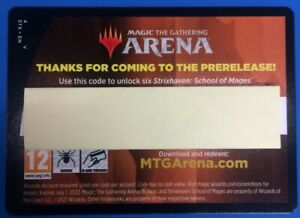 MTG Magic Arena Strixhaven Prerelease 6x Booster Pack Code