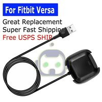 USB Replacement Charging Dock Station Cable Cord Charger for Fitbit Versa