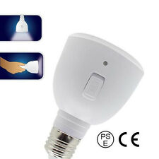 White LED Bulb Light E27 5W Rechargeable Portable Emergency Lamp Flashlight 2in1