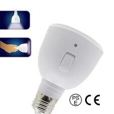 White LED Bulb Light E27 5W Rechargeable Portable Emergency Lamp Flashlight 2in1