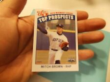 Mitch Brown - 2013 Midwest League Top Prospect - single card