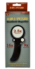 Magnifier Magnifying Glass 2.5X 9X 16X Illuminated LED Lighted Handheld Coins