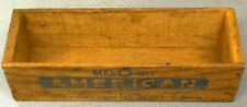 Antique Mel-O-Bit American 2 LBS. Wooden Cheese Box / Dairy Advertisement