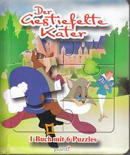 Paletti Der gestiefelte Kater 1 Buch mit 6 Puzzles & Kurzgesschichte Kinderbuch