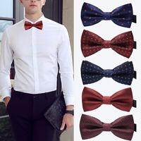 Men Elegant Adjustable Formal Bow Tie Tuxedo Neckwear Wedding Party Bowtie