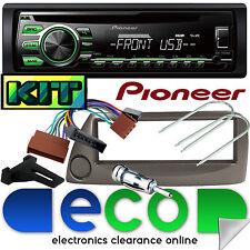 Ford KA Pioneer DEH-1700UBG CD MP3 USB AUX Car Stereo & Grey Fascia Fitting Kit