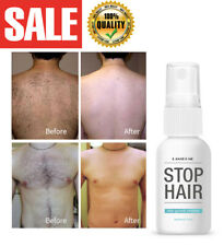 Stop Hair Growth Removal Spray Painless Inhibitor Leg Body Hands Face Depilation