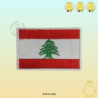 Lebanon National Flag Embroidered Iron On Sew On Patch Badge For Clothes Etc