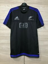All Blacks Rugby 2015-2016 Training Adidas Adizero Jersey Shirt New Zealand sz L