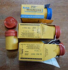 4 Vintage Kodak Embossed Metal Film Canisters