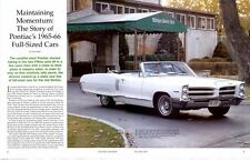 1965-1966 FULL-SIZED PONTIAC'S ~ GREAT 12-PAGE ARTICLE / PICTORIAL / AD